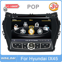 "Auto Stereo 8"" In Dash Car DVD Player for Hyundai IX45 / Santa Fe 2013 with GPS Navigation Radio Bluetooth TV CPU 1GHz DDR 512M"