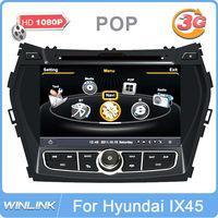 "Auto Stereo 8"" In Dash Car DVD Player for Hyundai IX45 / Santa Fe 2013 with GPS Navigation Radio Bluetooth TV CPU 1GHz DDR 512M"