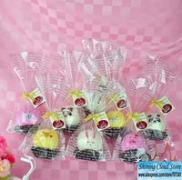 Free ship!24bag! Creative couple Christmas Wedding Favor Supplies gift / cake towel / round animal opp bag