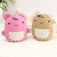 Free shipping 2PCS/lot wholesale Han edition cartoon cute mouth wombats smoked pull type key chain key case