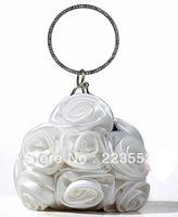 new delicate lady Fancy rose flower evening bag ,fashion wedding party dress matched bag,free Shiping