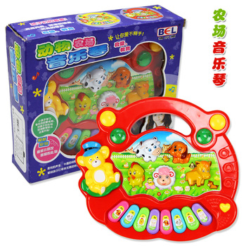 Animal music keyboard baby toy music toy baby puzzle light-up toy  (free shipping)