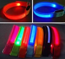 Led luminous armband flash safety band reflective cycling band 10pcs/lot Wholesales retail safety supplies(China (Mainland))
