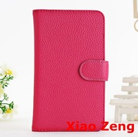 Lichee Pattern Leather Stand Card Case For Samsung Galaxy Note 2 N7100 Rose
