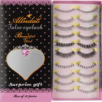 Alinda package mailed thick transparent terrier cross natural naked makeup quality fake eyelashes