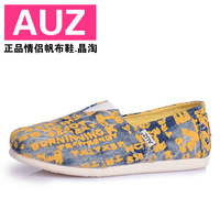 Freeshipping!!!Canvas shoes lazy foot wrapping low shoes male women's shoes lovers casual shoes single shoes