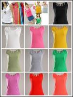Korean Stylish Women Cotton Thread Slim Cotton Solid Color Vest Long Paragraph free shipping