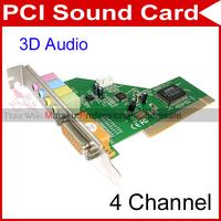 PC 4 Ch MIDI GAME 3D Audio PCI Sound Card #22