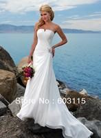 QN130530-0905 Strapless V-Neck Beach  Bridal Dresses