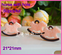 2013 wholesale resin horse with hole flat back resins flatback embellishments for angle girl hair bow&phone diy decoration(China (Mainland))