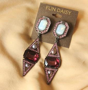 Luxury rhinestone statement crystal brand earring Artilady crystal luxurious jewelry