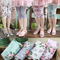 2013 summer new leggings for baby girl flower cotton leggings kids rose legginsg child Shorts baby Five pants wholesale 5 PCS