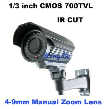 "1/3 ""CMOS 700TVLine with IR CUT excellent night vision 36IR  Varifocal lens 4-9mm cctv  security camera"