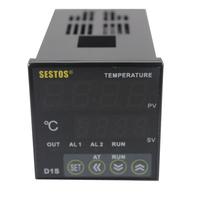 Sestos Dual Digital PID Temperature Controller 2 Omron Relay Output Black D1S-2R-24 +K sensor