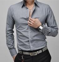 man spring 2014 Designer Fashion Luxury Slim Fit Dress Men's Shirts mens dress shirts elegant ,camisa masculina