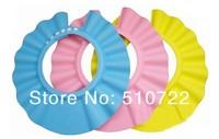 Free shipping 10PCS/LOT Adjustable baby safety foam soft shampoo shield hat Kid's bath shower cap
