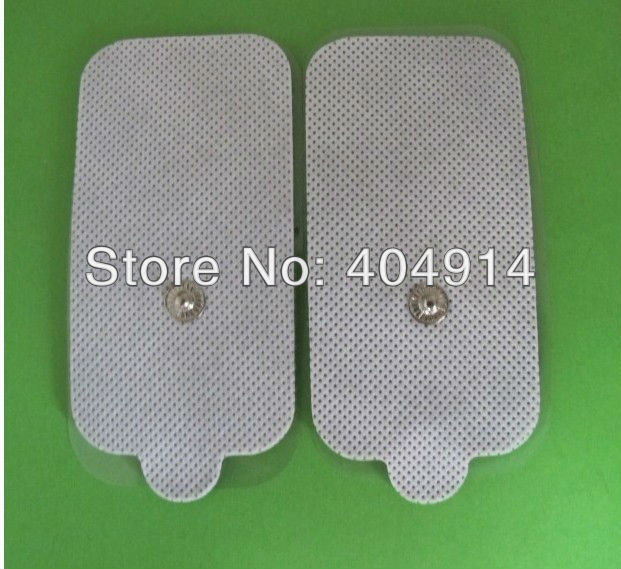 Top quality Reusable Non-woven rectangular Self Adhesive electrode pads replacement/ Body massager pad for TENS / EMS machine(China (Mainland))