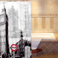 Quality Bath curtain Shower curtain, waterproof with hook, thicken 3D effect bath shower 3D Water Cube mold water