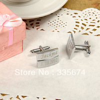 CL-020 1Pair Free Shipping Personality Wedding Cufflinks Brand Designed Sliver  Cufflinks For Mens Personalized laser engraved