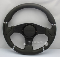 new Car steering wheel 14 genuine leather steering wheel automobile race modified steering wheel