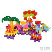 Free Shipping 126pcs/bag Plastic Gear combination of building blocks