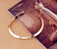 Min.order is $10 (mix order)Fashion Making simple shape metal texture collar necklace 2012 New necklace Jewelry