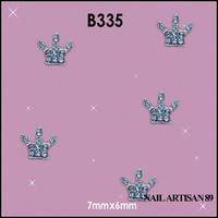 Silver Rhinestone Crown 3D Nail Art Decoration China Wholesale 100pcs/lot #B335