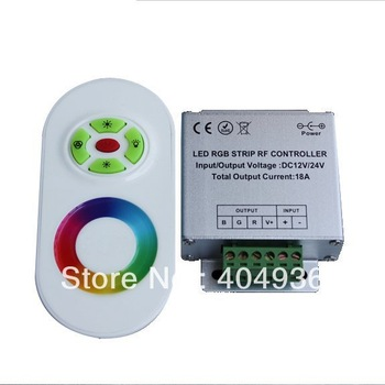 RF Wireless Touch RGB Controller with 3 Circuits for RGB led Ribbon DC12V