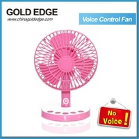 2013 hot seller voice control fan 12v mini fan