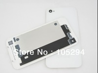 Free Shipping Glass Back Cover Replacement Housing With Bezel Frame Assembly as original for Apple iPhone 4gs 4s white