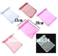 Free Shipping 100Pcs/Lot 13x18cm Solid color Gift Bags Gauze Cloth Packing Shopping Pouches