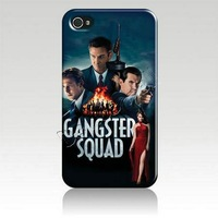 Free shipping 35% off for 10pcs  for Iphone 4 4s iphone 5 luxury designer  Hard Cover Case Skin gangster squad IZC2153 packaging