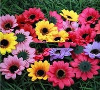 DIY manual simulation flower silk flower cloth flower chrysanthemum sunflower head little Daisy flowers