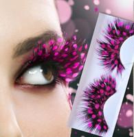 Pink Dot false eyelashes high quality natural feather false eyelashes colorful false eyelashes fashion eyelashes y001