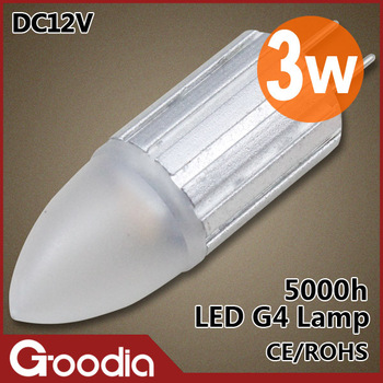 Free shipping New arrival 3W Led 12 v cold white / warm whtie CE & ROHS L45*W13mm AC/DC12V 20PCS/LOT 3W G4