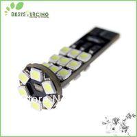 Free Shipping 100pcs/lot DC 12V T10 W5W  24 SMD 3528 LED CANBUS White Light Bulb Car Day White Light Lamp