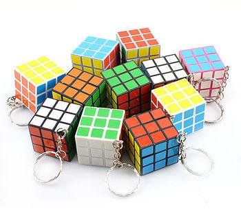 10 pcs x Mini Magic 3x3x3 3x3 Cube Toys with Key Chain YUXIN  Free Shipping Wholesale