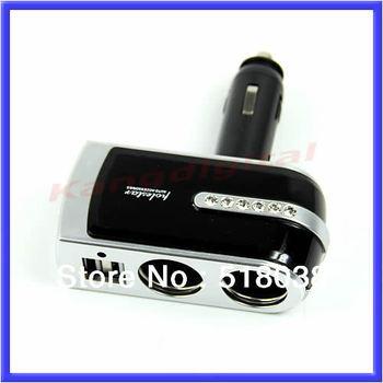 Free Shipping USB Port Twin Way Car Lighter Power Socket Splitter Charger Adapter