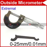 0-25mm 0.01mm Outside Mechanist Micrometer Caliper New #92