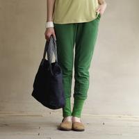 Summer pencil pants rib knitting knitted pants lacing 100% t1345 cotton casual pants