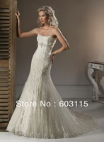 QN130530-0913 Strapless with Appliques Mermaid  Bridal Dresses