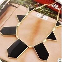 N0334 Big Star style Hilton Love black geometric irregular statement necklace choker necklace collar necklace fashion B6.5