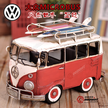 Vw skateboard bus handmade metal car models wrought iron model