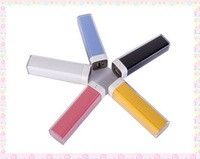Best Price 2600 mAh capacity emergency power bank External Battery Charger lipstick  for samsung iphone htc etc
