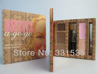 1set high quality   brand makeup eyebrow kit & eye  kit yeux et  mini cosmetics beauty tool box  free shipping