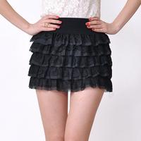 2013 spring bust skirt tulle small short skirt preppy style puff skirt pleated skirt
