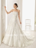 QN130530-0916  Strapless  with Button on the Back  Embroidery Bridal Dresses