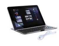 Free Shipping New Aluminum Wireless Bluetooth 3.0 Keyboard Case Cover Stand for Samsung Galaxy Note 10.1 N8000 Tablet PC