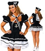 Free Shipping Sexy Navy Costumes, Women Sailor Cosplay, Women Halloween Costume, Party Dress PW0040 Wholesale Drop Shipping