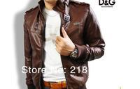 men'sleather suede jacket Korean catwalks shall Slim leather jacket coat (black, brown) PY6108 (Drop shipping support!)